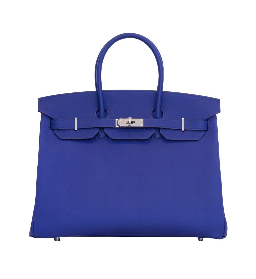 6fe5160f0b9c Hermes Birkin 35 Electric Blue-SOLD